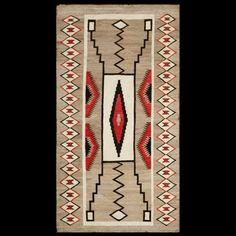 American-Navajo Circa: 1900 Color: Other Origin: USA Width: 3' 0'' ( 91.4 cm ) Length: 5' 7'' ( 170.2 cm )#antique #Navajo #rug.Stock Id: #19768