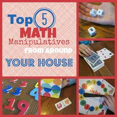 Top 5 Math Manipulatives From Around Your House-The Unlikely Homeschool,Math education