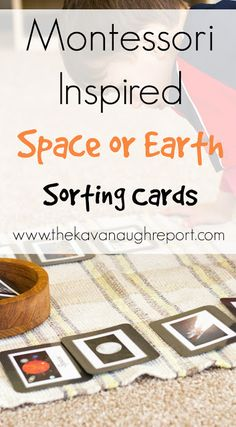 Montessori Inspired Space or Earth Sorting with Printable