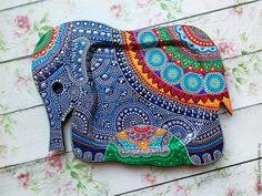 """Купить Поднос """"Индийский слон"""" - комбинированный, поднос, поднос для кухни…"""