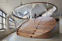 interior design, modern stair, round staircas