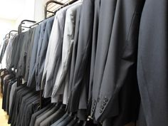 Wide selection of suits at Winston's Men's Wear.