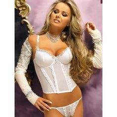 Atomic Shimmer Bridal Bustier #atomicjaneclothing
