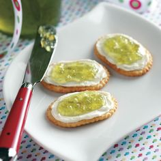 Texas Jalapeno Jelly Recipe -A jar of this sweet and spicy jelly is always warmly appreciated. To add an extra Southwestern accent, I trim the lid with a snappy bandanna print fabric. —Lori McMullen, Victoria, Texas