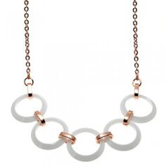 Circular style necklaces are all the rage in the fashion world right now. Our Ceramic Circular Centerpiece Necklace is the perfect piece to try out this style. Beautiful, simple and durable, this necklace is great for everyday wear and will compliment almost any outfit.