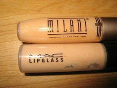 Milani crystal gloss in Secret♥ fave nude lip gloss. Also a dupe for MAC C thru