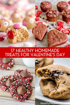 17 Healthy Homemade Treats for Valentine's Day | A round up of 17 healthy, homemade treats to make and enjoy for Valentine's Day! Festive treats that are also GOOD for you. #valentinesdayrecipes #valentinesdaytreats #healthytreats #healthydesserts #healthybaking #glutenfreebaking #veganbaking Best Dessert Recipes, Fun Desserts, Holiday Recipes, Delicious Desserts, Valentines Recipes, Valentines Food, Real Food Recipes, Healthy Recipes, Canadian Food