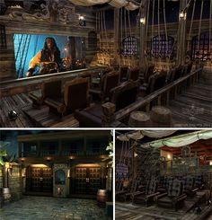 ridiculous pirate themed home theater   LOVE THIS !!!!!!