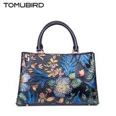 179.90$  Buy now - http://alib2u.worldwells.pw/go.php?t=32751592852 - Famous brand top quality Cow Leather women bag  Fashion Shoulder Messenger Bag High-end painted handbag Tote bag