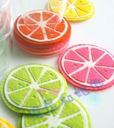 Fruity coasters