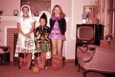 Vintage Halloween- I hope they live in FL. Otherwise that girl is going to freeze