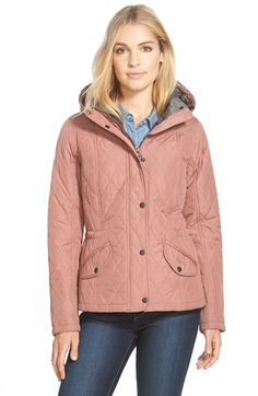 Barbour 'Millfire' Hooded Quilted Jacket available at #Nordstrom