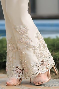 Lilac Embroidered & Embellished High Low Top Lilac Embroidered & Embellished High Low Top – Henna Mehndi This. Pakistani Dress Design, Pakistani Dresses, Indian Dresses, Suit Fashion, Fashion Pants, Fashion Dresses, Stylish Dresses, Casual Dresses, Designs For Dresses