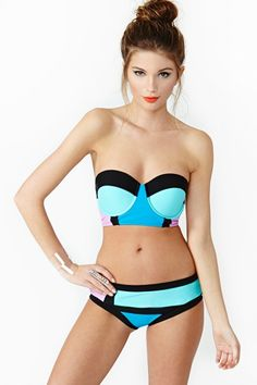 Nasty Gal Block Party Bikini: Fun and fresh!