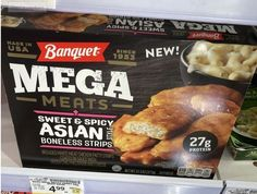 Meat Chickens, Frozen Meals, Sweet And Spicy, Asian Style, Banquet, Beef, Food, Freezer Meals, Meat