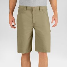Dickies Men's Big & Tall Relaxed Fit Lightweight Canvas 11 Carpenter Short- Desert Sand 44