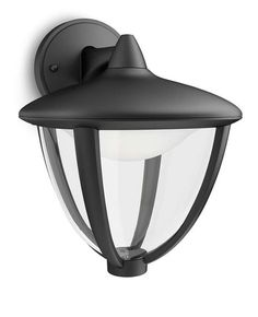 Buy Philips Robin LED Outdoor Wall Lantern, Black from our Wall Lighting range at John Lewis & Partners. Outdoor Wall Lantern, Outdoor Walls, Outdoor Spaces, Robin, Luz Led, Philips, Incandescent Bulbs, Downlights, Home Lighting