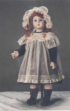"20""ANTIQUE FRENCH JUMEAU/BRU DOLL BATTENBURG LACE DRESS&HAT PATTERN GERMAN CHILD | eBay"
