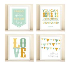 I think a set of 4 prints would be fun to design for Kennedy's room?