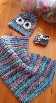 Sacco nanna, cappellino e scarpette in cotone bio