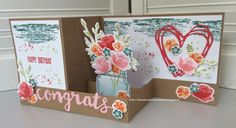 """Laura's Creative Moments: double z fold card with the """"Jar of Love"""" set"""