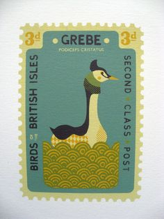 I love stamps- stamp collecting-try eBay, lots of fun getting them there- this is a Grebe stamp