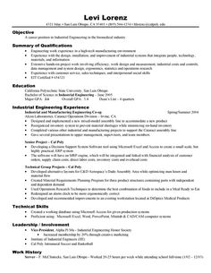 Example Engineering Resume Job Examples Template Internship College