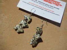 THREE LITTLE PIGS Dalmation Jasper Gemstone Earrings via Etsy http://www.etsy.com/listing/127797217/three-little-pigs-dalmation-jasper?ref=teams_post
