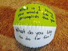 For the Love of Teaching: Monday Made It {Lunch Choices & Beach Ball Icebreaker Activity}