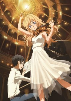 012 Your Lie in April - Shigatsu wa Kimi no Uso Japanese Anime Poster Manga Anime, Film Anime, Anime Art, All Out Anime, I Love Anime, Me Me Me Anime, Your Lie In April, Kaori Anime, Hikaru Nara