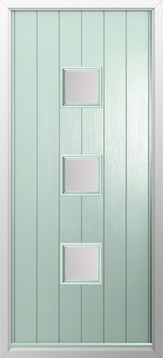 Composite door, 3 Square centre in Chartwell green. High quality, secure and in your choice of colours! Check out our new extended range and design your new composite door today with Just Value Doors.
