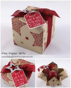 Geschenkbox Kugelkerze – mit dem Stanz- und Falzbrett für Geschenkschachteln