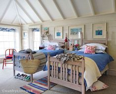 from UK Country Living - sweet bedroom- wish I could finish off my attic for this room
