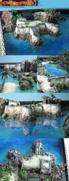 TeamToulouse Création - Pirate's cove 3D board