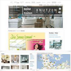 Internetseite Relaunch Knutzen Wohnen GmbH / Leistungen: Konzeption, Webdesign, Technische Umsetzung, SEO, SEM / Techniken: TYPO3, PHP, mootools, XHTML, CSS, SEO, SEM