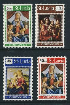 St Lucia 1971 Christmas SG319-322 set mint hinged stamps Listing in the Christmas,Festivals & Seasonal,Thematic,Stamps Category on eBid United Kingdom