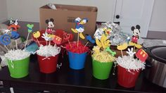 Center pieces for Mickey party