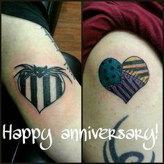 Jack and Sally matching tattoo