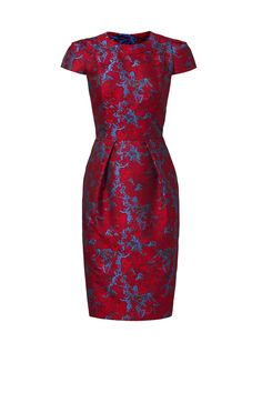 Rent Cranberry Jacquard Dress by Carmen Marc Valvo for $90 only at Rent the Runway.