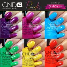 CND Shellac Paradise Collection Summer 2014 Swatches by Chickettes.com