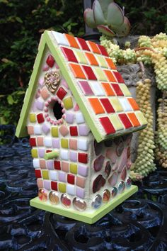 """Thanks for the kind words! ★★★★★ """"This birdhouse is a real work of art - very colorful,  beautifully decorated and definitely unique. Marie is also a great person to do business with  """" astefans1"""