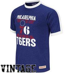 Mitchell & Ness Philadelphia 76ers Backscreen Premium T-Shirt - Royal Blue - $43.95