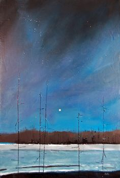 Landscape Paintings by David Lidbetter Forest Painting, Sky Painting, Painting Gallery, Beautiful Landscape Paintings, Contemporary Landscape, Abstract Landscape, Space Gallery, Winter Art, Winter