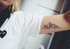 mountain tattoo via Tattoologist