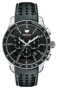Movado 'Series 800' Chronograph Strap Watch, 42mm