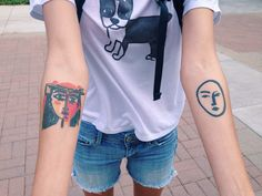 "nyheraldtribuune: ""vangoghcrystal: ""Today I met a girl with a Picasso and Matisse tattoo "" N Y HERALD TRIBUUNE ""  how beautiful"