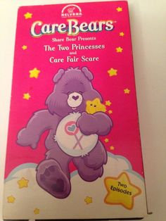 Care Bears VHS Share Bear Presents The Two princesses And Care Fair Scare