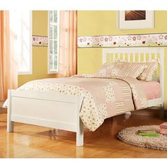 Elise Twin Bed, Soft White
