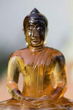 "5.6"" Phra Singh Lion Buddha Carved Natural Citrine Quartz Antique Statue Amulet #HandCarved"