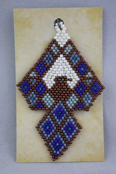 pendant, hand made jewelry, handmade jewelry, thunderbird pendant, beaded pendant, beaded thunderbird pendant, beaded jewelry, hand beaded